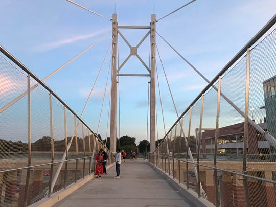 The University of Memphis Hunter Harrison Memorial Bridge was unveiled with a pep rally on Friday.