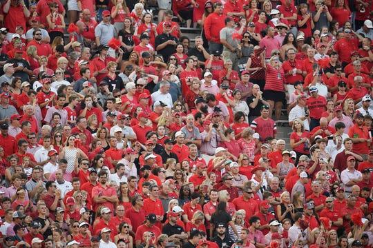 A sea of Georgia fans before the start of the game against Vanderbilt at Vanderbilt Stadium in Nashville, Tenn., Saturday, Aug. 31, 2019.