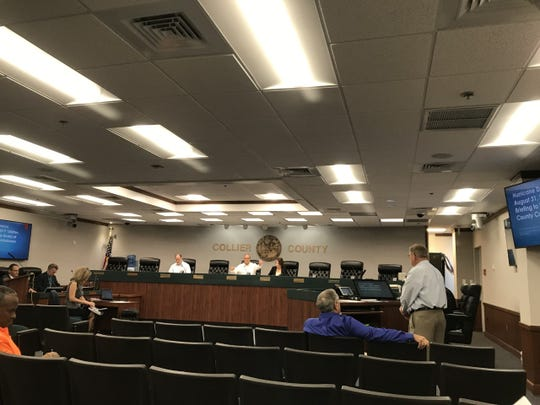 Collier County commissioners declare a local state of emergency Saturday, Aug. 31, 2019, during an emergency special meeting at the county's government complex.