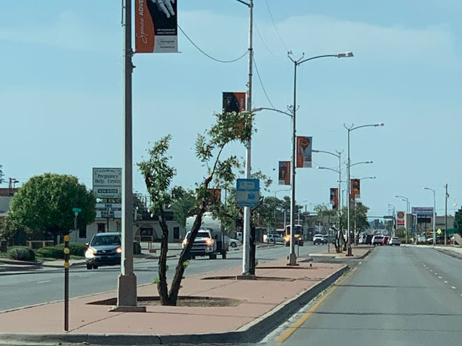 Banners promoting attractions around Alamogorodo have been installed around the community.