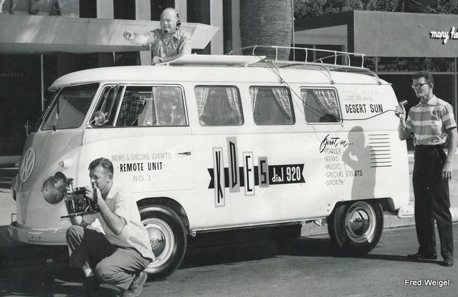 This was The Desert Sun newspaper's first mobile radio unit known as KDES.