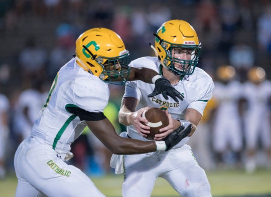 Quarterback Colin Whibbs, Michael Archie (pictured) and the Catholic Crusaders are off to a 4-0 start for the first time since 2013.