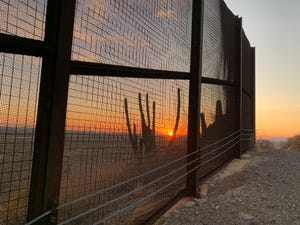 Construction began on Aug. 22, 2019, to replace wire-mesh fencing, measuring 15 feet high, east of Lukeville, Arizona, with 30-foot bollards.