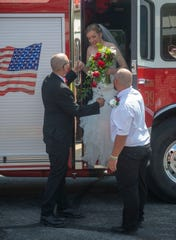 Little more than two years after the New Bridgeville Memorial Fire Company's engine delivered Cheyenne and Dustin Miller to Red Lion's prom, it carried them from their wedding to their reception.