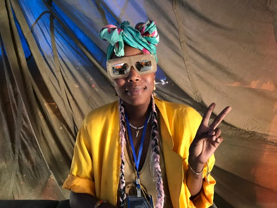 Los Angeles attorney Tamara Harris at Burning  Man on Saturday, Aug. 31, 2019.