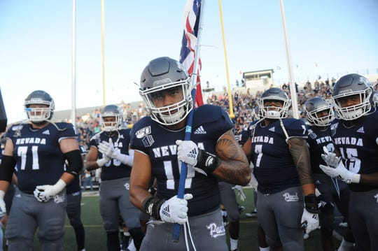 Nevada takes on Purdue during their football game at Mackay Stadium in Reno on Aug. 30, 2019.