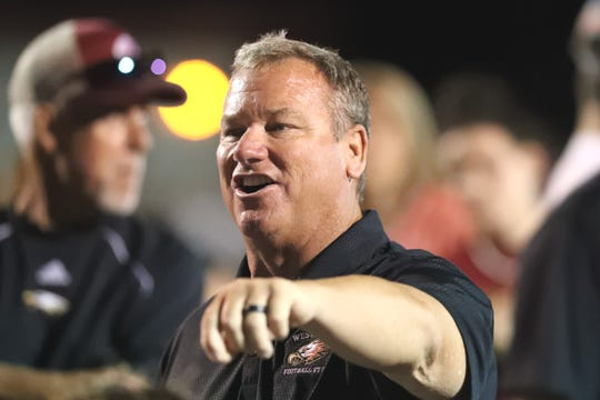 With the victory Friday, Aug. 30, 2019, West Valley head football coach Greg Grandell now has 186 wins during his career and is tied with former Central Valley coach Matt Hunsaker for the third most wins in Northern Section history.
