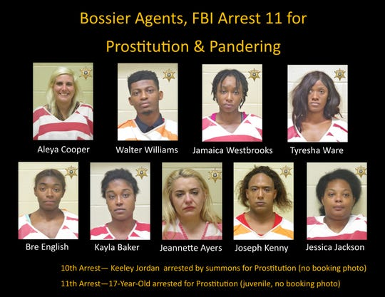 Those arrested for prostitution in Bossier City operation Aug. 28-29.