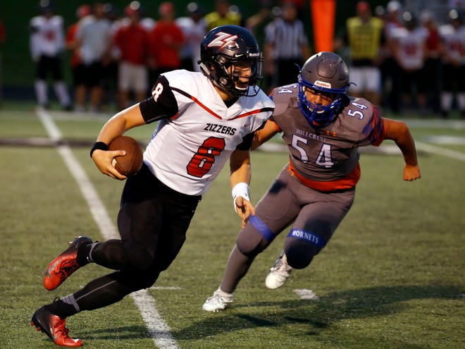The West Plains Zizzers took on the Hillcrest Hornets during their football season opener at Hillcrest High School in Springfield, Mo., on Aug. 30, 2019.