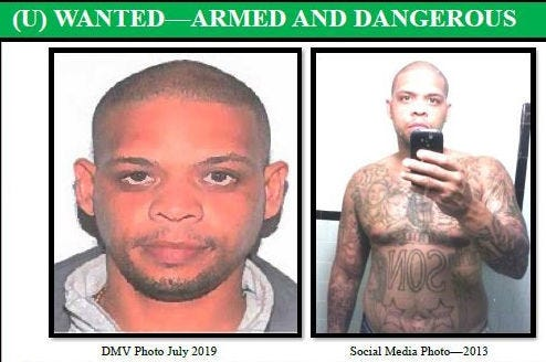 Myison Iaeene Ellis, 38, of Waynesboro, is wanted in connection with a homicide in Warrenton.