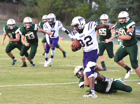 Wilson Memorial brought down Waynesboro Friday night 41-0 in a nondistrict football game.