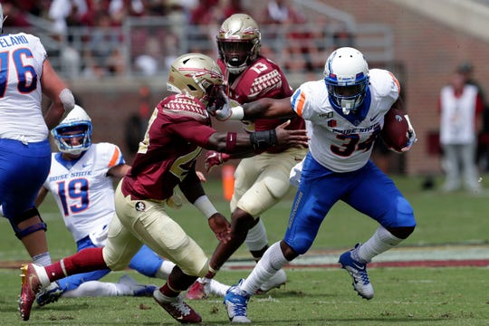 The Florida State Seminoles host the Boise State Broncos for their first game of the season. The game was previously scheduled to be played in Jacksonville, Fla. but was moved to Tallahassee due to the threat of Hurricane Dorian.