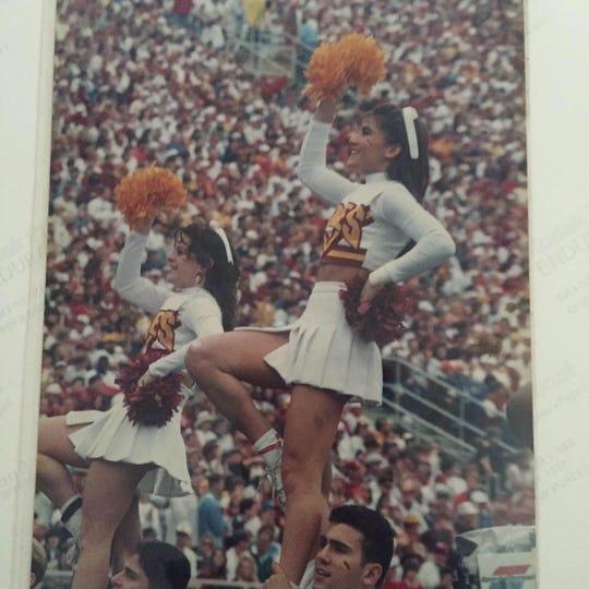FSU cheerleader Julie Poff in the early 1990s.