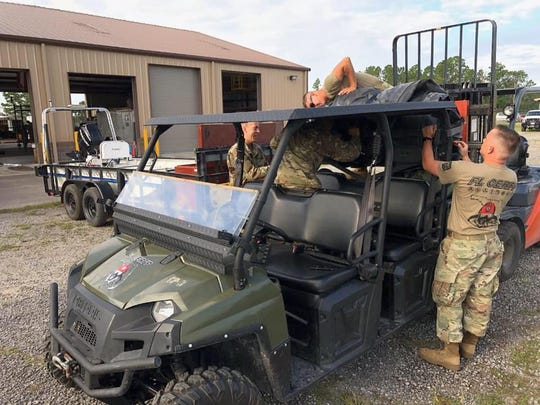 Florida National Guard preparing for Hurricane Dorian response.