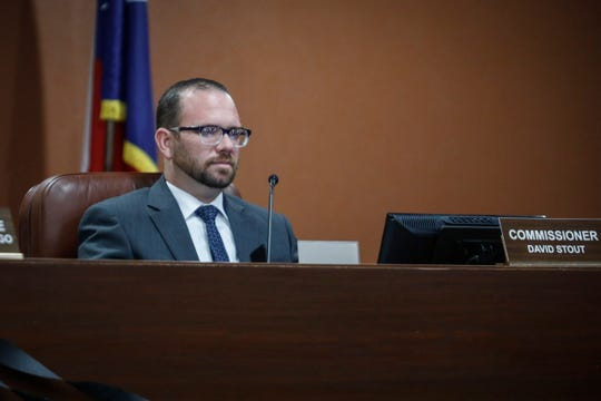 El Paso County Commissioner David Stout of Precinct 2 during a meeting on Aug. 28, 2019.