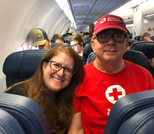 Red Cross Ventura County Chapter volunteers Michael McGehee and Diana Swartz traveled to Jacksonville, Fla., Friday to help set up a shelter in advance of Hurricane Dorian.