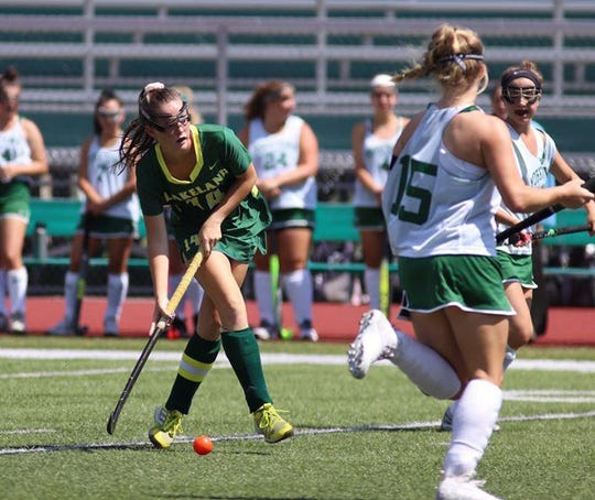 Jenna McCrudden in action during a game against Yorktown at Yorktown High School on Aug. 30, 2019. Lakeland won 9-0.