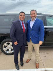 Wichita Falls Mayor Stephen Santellana welcomed Sen. Ted Cruz, R-Texas, to Wichita Falls, where the senator participated in a round table discussion that included Wichita Falls community leaders.