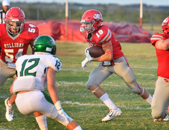 With Connor Cox out, Holliday running backs Crae Jackson (pictured) and Tristin Boyd will have to lead the Eagles' ground game