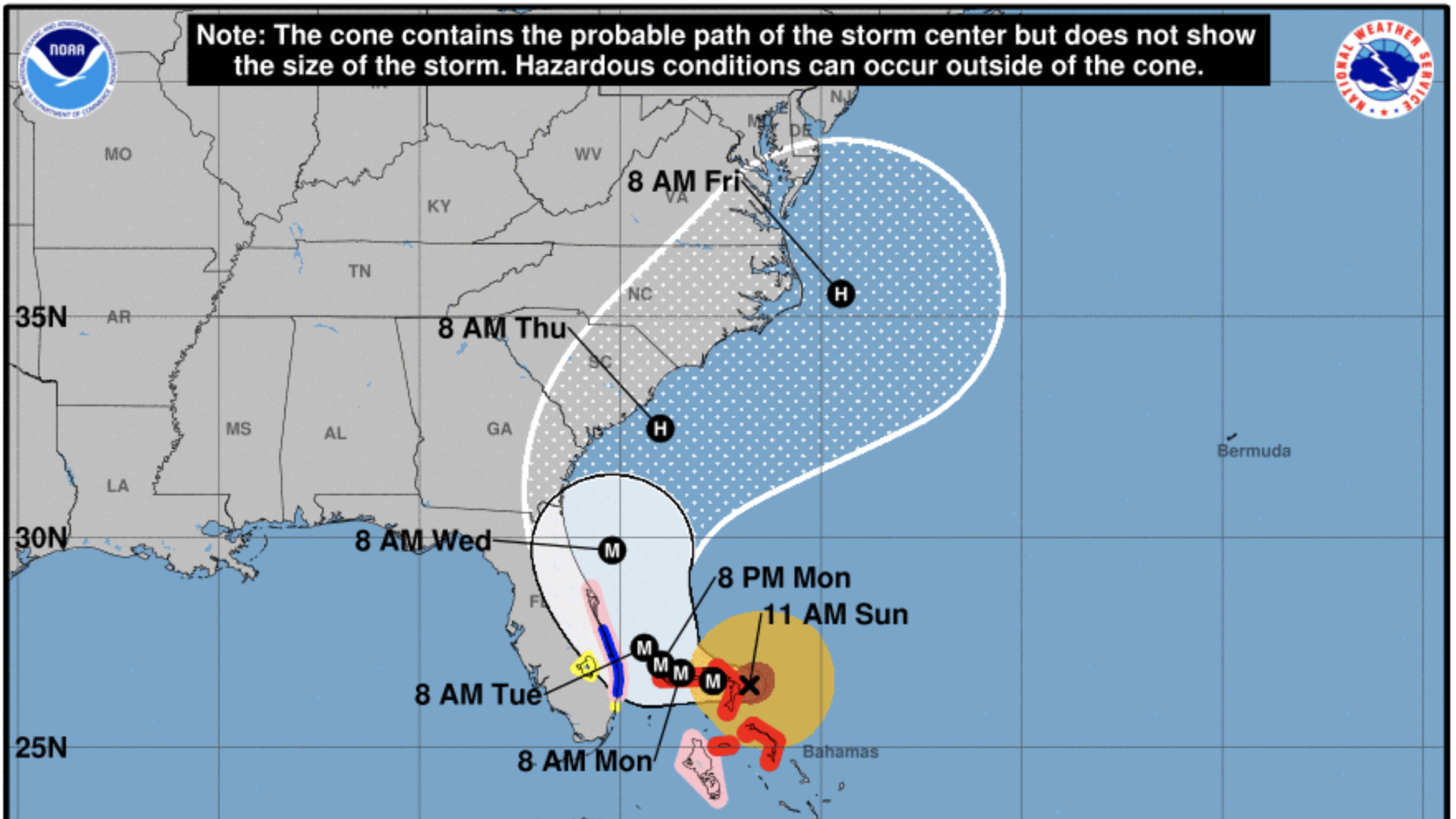 Hurricane Dorian: Path could shift toward North Carolina