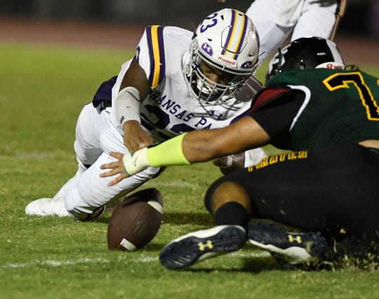 Aransas Pass faces Rockport-Fulton during a high school football game, Saturday, Aug. 31, 2019, at Pirate Stadium.