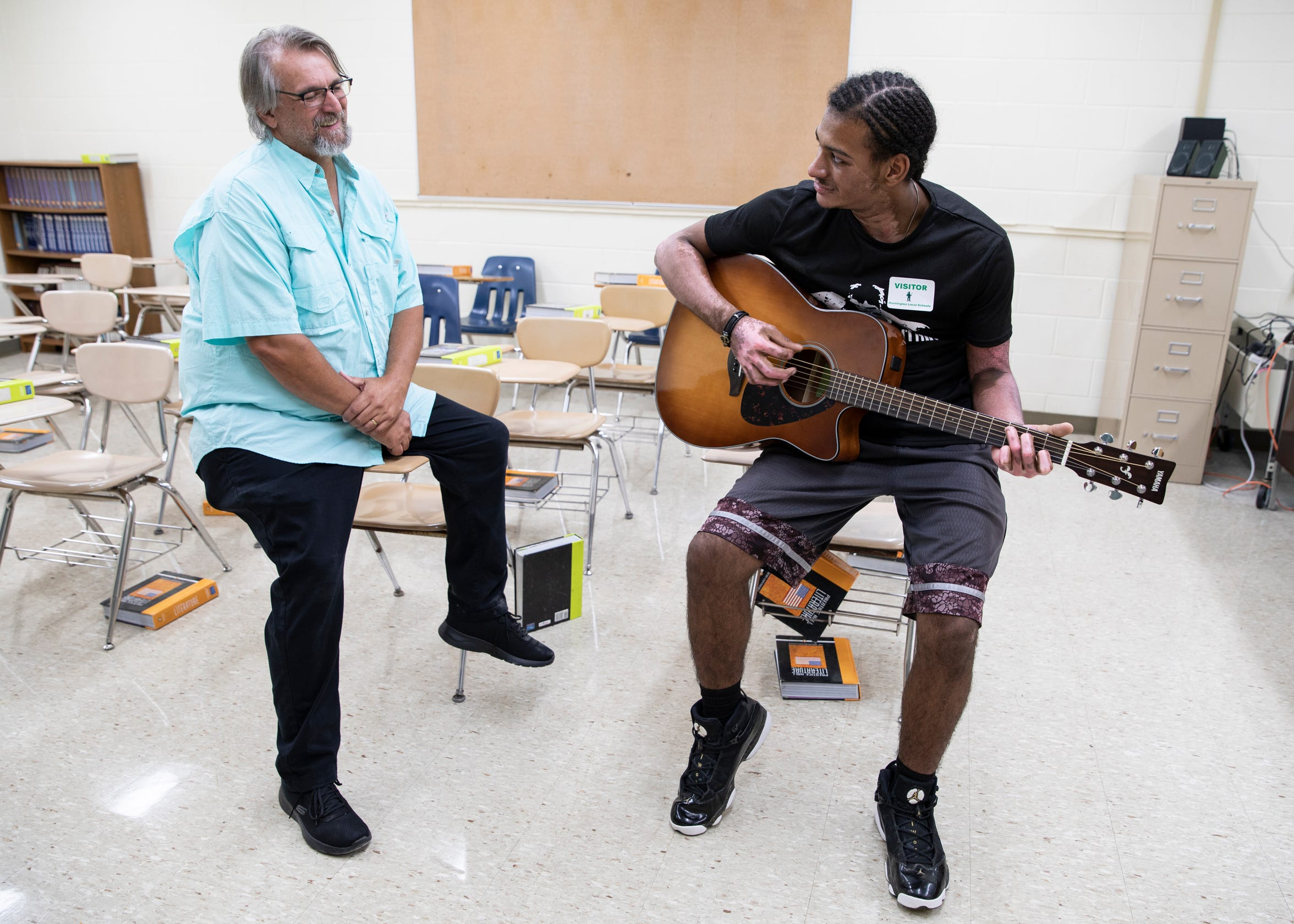 Huntington English and Drama teacher Keith Greene would become the father figure in Canaan's life that he never had growing up. One passion they shared was that of playing the guitar with Keith letting him play in his classroom sometimes.