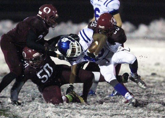 Metuchen and Highland Park played in the snow on Thanksgiving Eve five years ago.