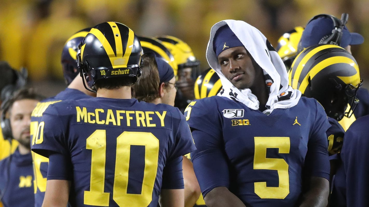 Jim Harbaugh hyped for Michigan football's quarterback battle: 'Have at it'