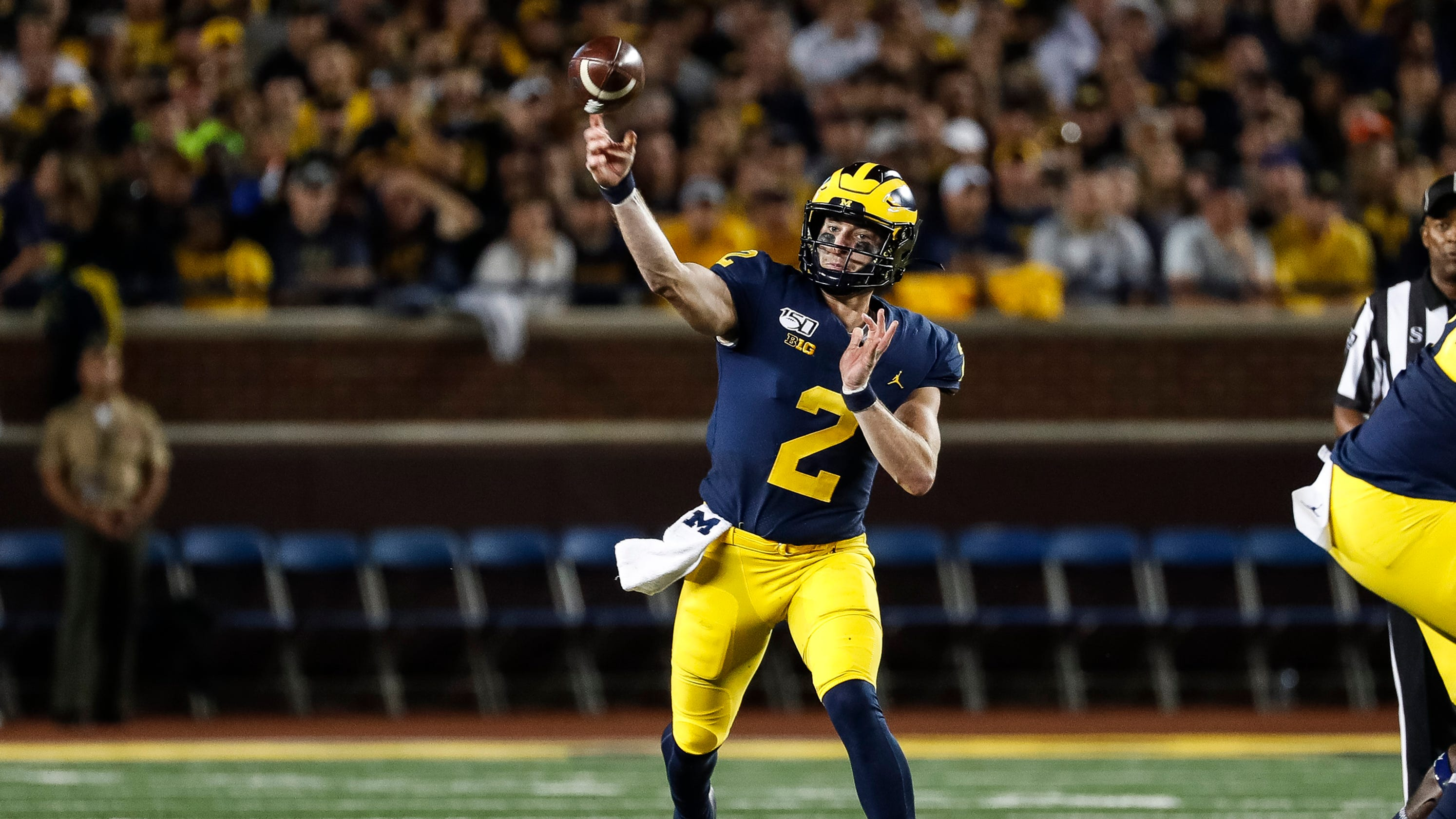 hot sale online 0bcf9 b803c Michigan football's new offense and Shea Patterson are a ...