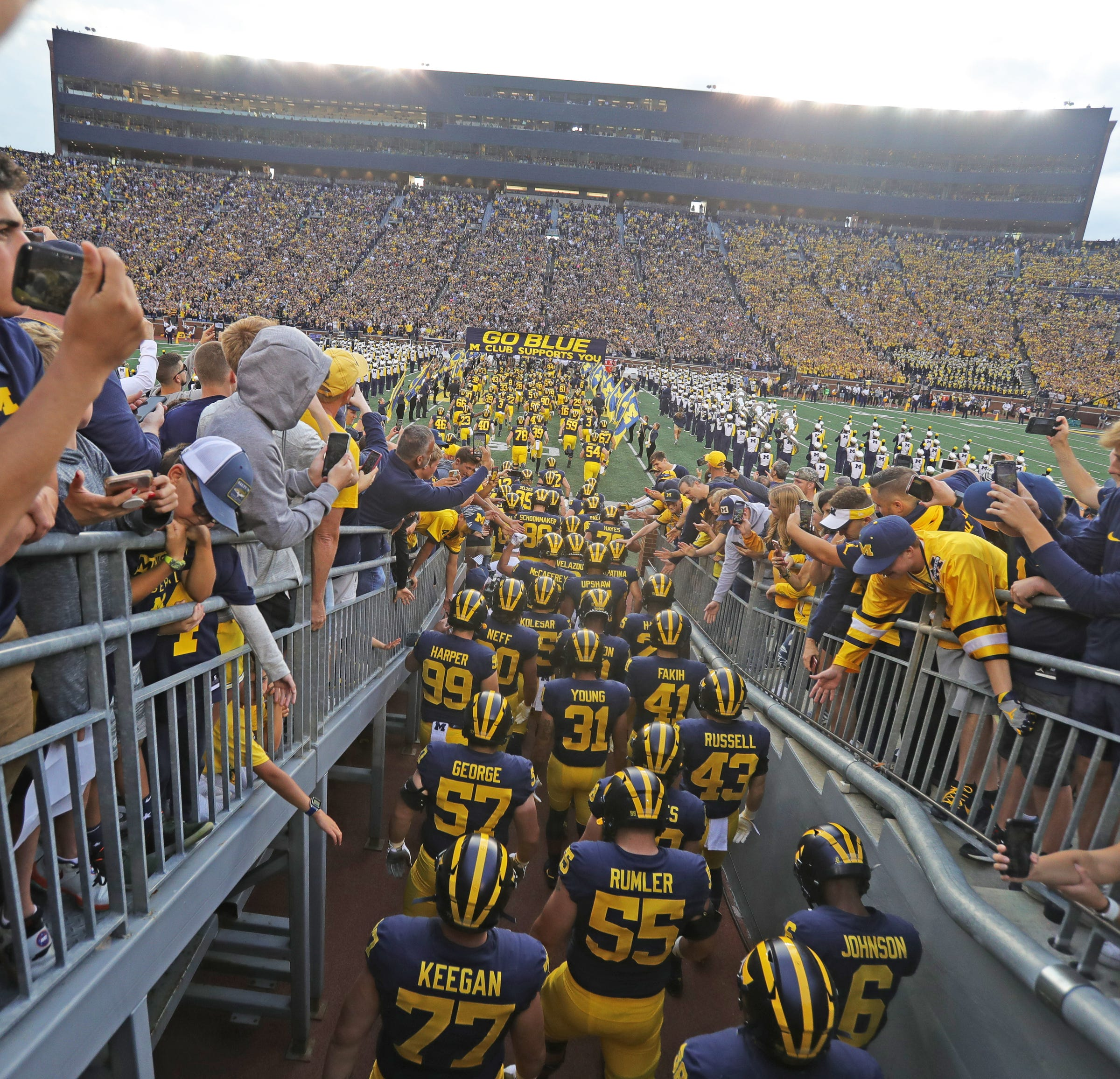 graphic regarding Michigan Football Schedule Printable named Michigan Wolverines soccer plan 2019: Occasions, Television set, success