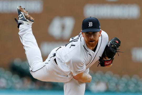 Tigers starting pitcher Spencer Turnbull throws during the second inning on Sunday, Sept. 1, 2019, at Comerica Park.