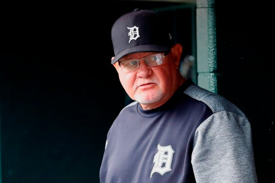 Tigers manager Ron Gardenhire looks on from the dugout in the second inning of the Tigers' 8-3 loss on Sunday, Sept. 1, 2019, at Comerica Park.