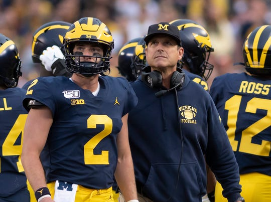 Coach Jim Harbaugh says Michigan's underdog status is irrelevant going into Saturday's Big Ten opener against Wisconsin.