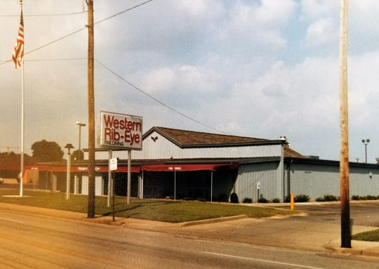 The Western Ribeye building in 1985, on Weinbach Avenue near Morgan Avenue.