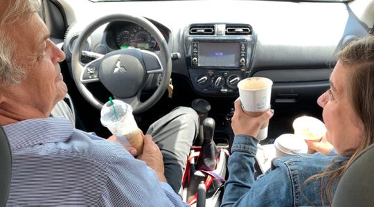 News-Press reporters Melissa Montoya and Bill Smith take a drive to Starbucks so Bill can try a pumpkin spice latte for the first time. Melissa loves them. In the end Bill enjoyed the experience and really enjoyed the pumpkin spice Frappuccino.
