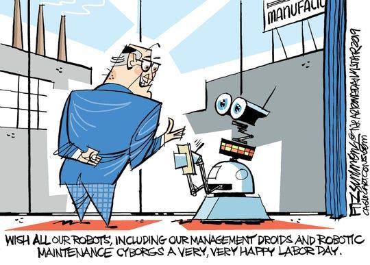 Robots on Labor Day.