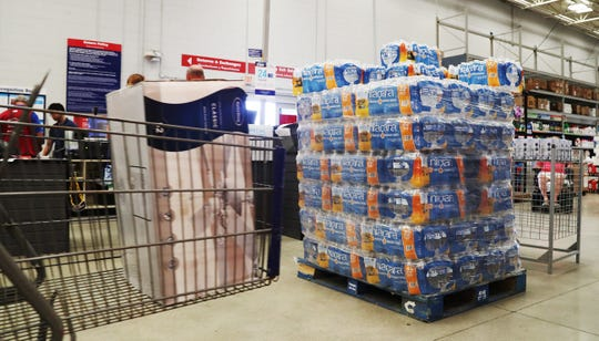 Lowe's in south Fort Myers is one of several area stores that have restocked on essentials to include water, gas containers and generators in preparation for Hurricane Dorian. A manager at the Lowe's said, if needed, they will ship supplies to stores in areas hardest hit by Hurricane Dorian.