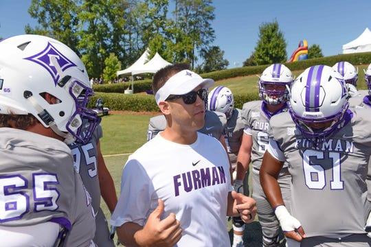 Furman hosts Charleston Southern in a SOCON football game Saturday, Aug. 31, 2019.