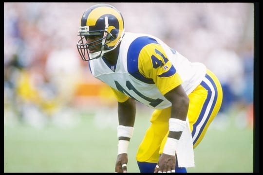 12 Sep 1993:  Defensive back Todd Lyght of the Los Angeles Rams in action during the Rams 27-0 win over the Pittsburgh Steelers at Anaheim Stadium in Anaheim, California.
