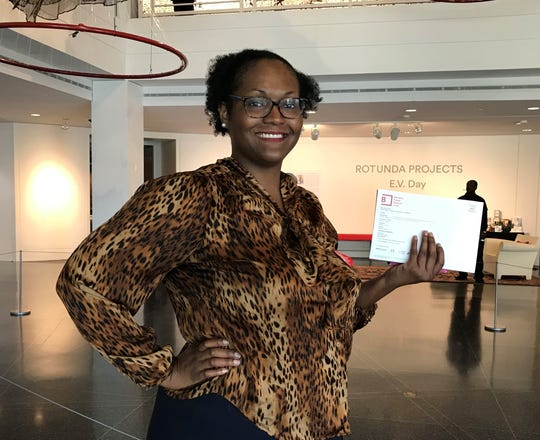 Sonya Murphy, 34, receives free year-long membership to The Memphis Brooks Museum of Art for '901 Day' 10-person give-a-away.