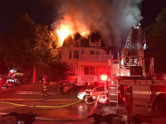 A fire broke out Saturday evening at a multi-unit home at East Park Place and North Downer Avenue.