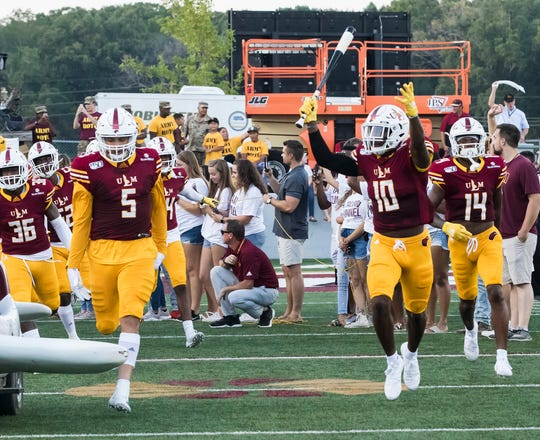 ULM defensive end Kerry Starks (5) was suspended for the second time this year on September 3 after allegedly spitting in Grambling State tight end Kalif Jackson's face in ULM's 31-9 season-opening win.