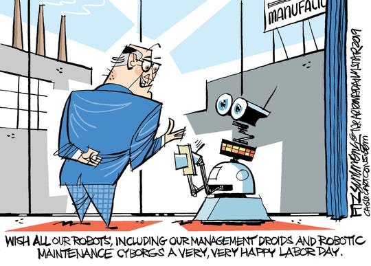 Robots on Labor Day.