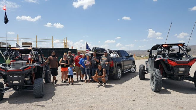 The Cruces Crew, including Rosa and Beto Ramos, Angel Garcia, Alice Salcido, Daniel Alejo, Daniel Bouldin, Diana and Kelly Moore and Erick Soto, picked up trash Sunday, Sept. 1, in the Doña Ana Mountains.