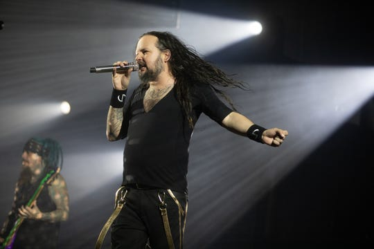 Korn performs at Ak-Chin Pavilion on Saturday, Aug. 31, 2019 in Phoenix.