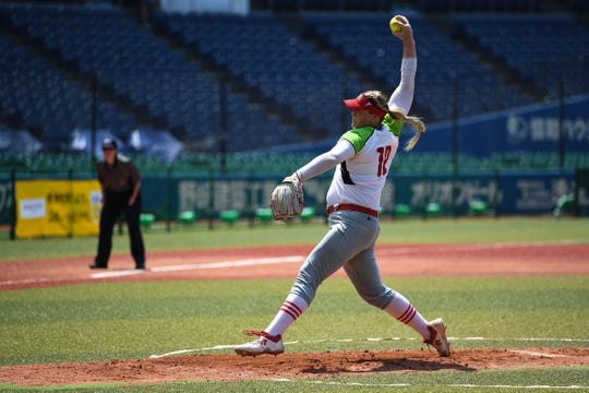 Former Arizona State softball star Dallas Escobedo pitched a complete game Saturday in a qualifying win that advances Mexico to the 2020 Tokyo Olympics.