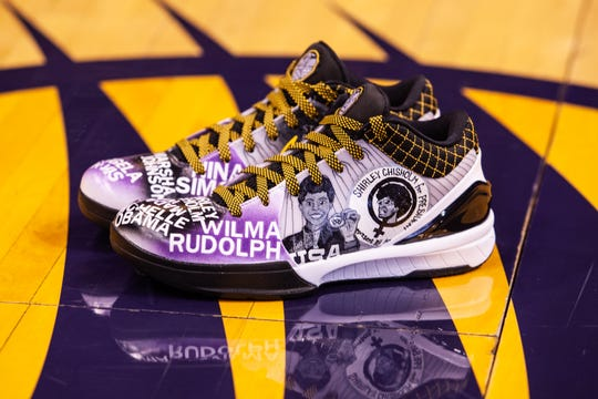 Wilma Rudolph, Shirley Chisholm and Michelle Obama are among the inspirations that Phoenix Mercury guard Briann January will honor on her shoes Tuesday.