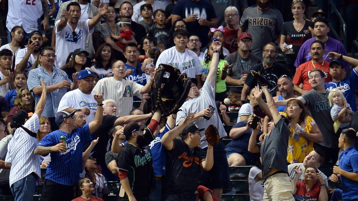 Arizona Diamondbacks break single-game attendance record in game vs. Los Angeles Dodgers
