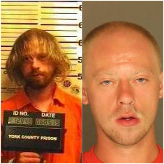 Suspected school squatter Andrew Altland. His most recent photo is on the right, taken Thursday upon his arrest.