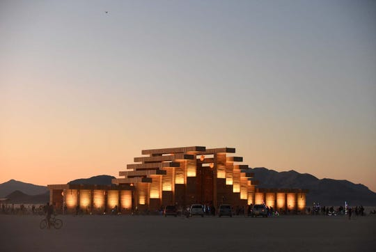 Images of the Temple at Burning Man 2019